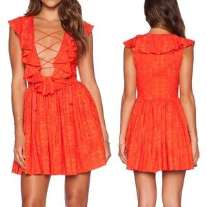 Revolve Silk Jetset Diaries Forever Dress Mandarin